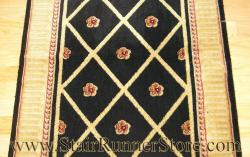 Nourison Ashton Court Stair Runner Black 27""