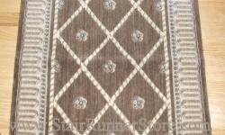 Nourison Ashton Court Stair Runner Mink 27""