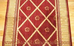 Nourison Ashton Court Stair Runner Red 27""