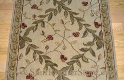 Nourison Regal Vine Stair Runner Ivory 36""