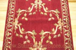 Nourison Ribbon Trellis Stair Runner Burgundy 27""