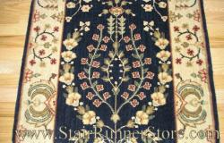 Nourison Sarouk Stair Runner Midnight 41""