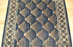 Nourison Shadolure Stair Runner Midnight 36""