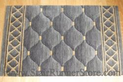 Nourison Shadolure Stair Runner Platinum 30""