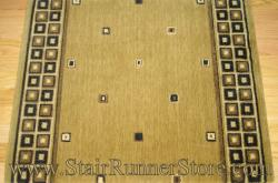 Nourison Squares Stair Runner Gold 36""
