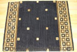 Nourison Squares Stair Runner Midnight 30""