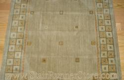 Nourison Squares Stair Runner Sage 30""