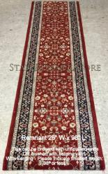 "Runner REMNANT 26"" x 98"" BRLT 72284 Red"