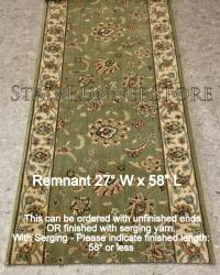 "Runner REMNANT 27"" x 58"" Sultana Emerald"
