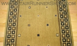 Squares Stair Runner Gold 36""