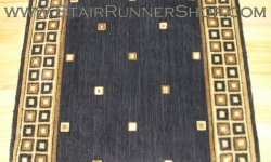 Squares Stair Runner Midnight 30""