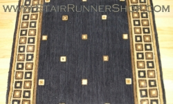 Squares Stair Runner Midnight 36""