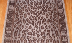 Wild Safari Stair Runner Pewter 41""
