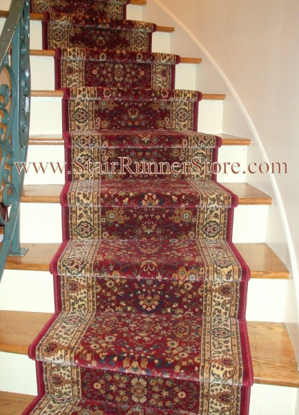 Curved Stair Runner Installation 2