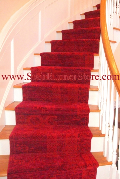 Curved Stair Runner Installation 5049
