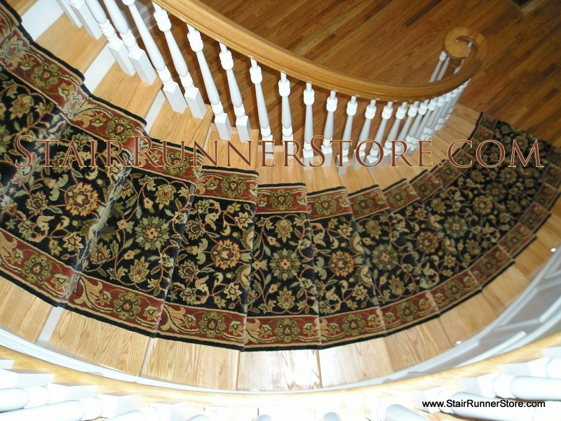 Curved Stair Runners Installation 119