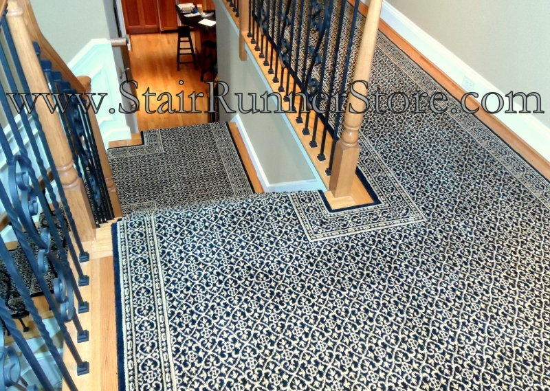 Gentil Custom Hall And Stair Runner Installation 0491 2