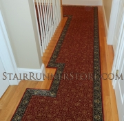 Custom Landing Hall Runner Installation 3271