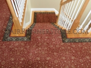 Custom Landing Stair Runner Installation 3267