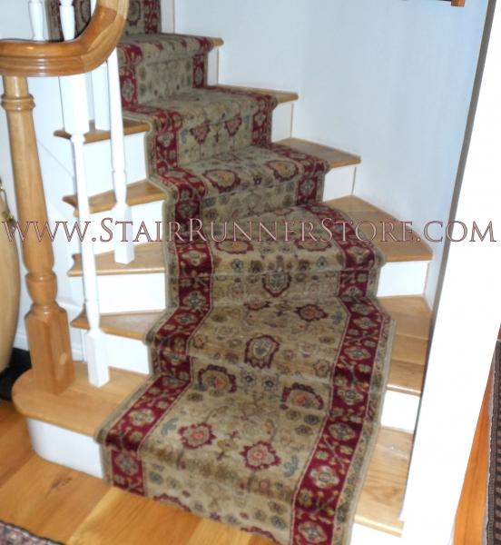 Karastan Pie Step Stair Runner Installation 1464