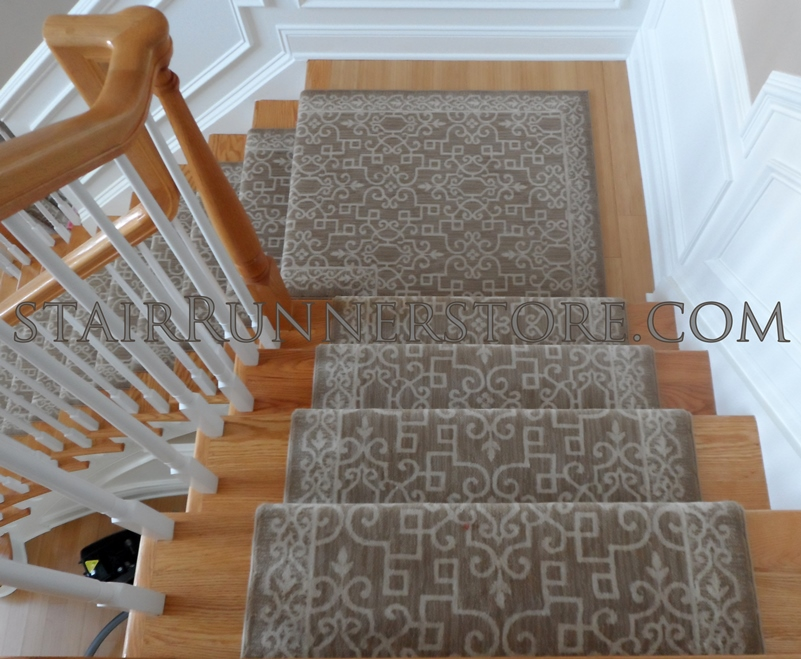 Single Landing Stair Runner Installations Stair Runner