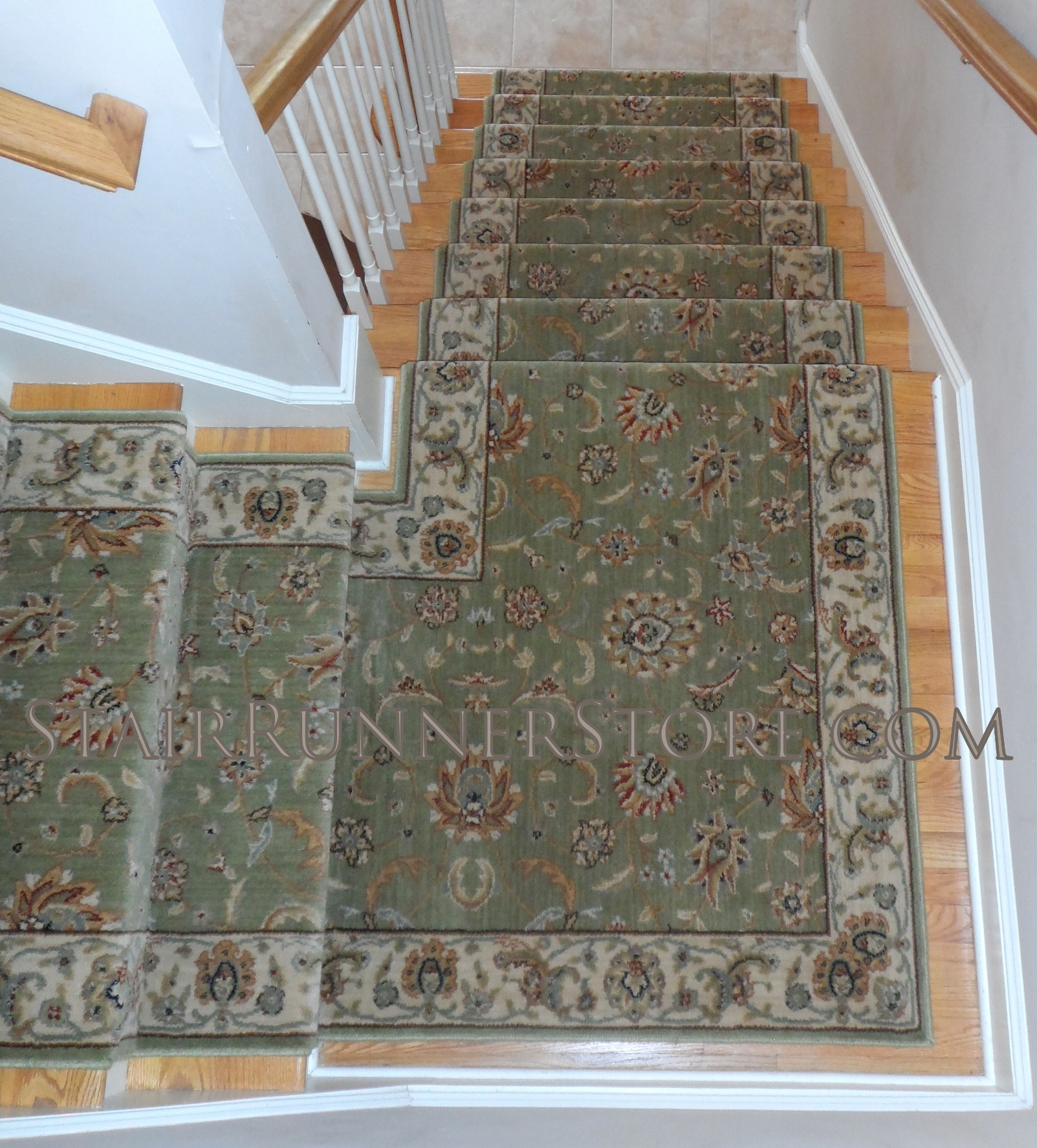 Single Landing Stair Runner Installations • Stair Runner