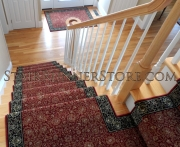 Custom Landing Stair Runner Installation 3266