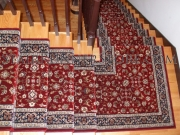 Single Landing stair runner installation Brilliant