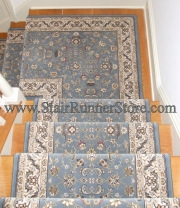 Stair Runner Landing Installation miter