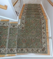 Straight stair runner installation 3121 med