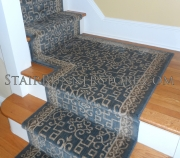 Sonja Stair Runner Custom Landing Installation 3222