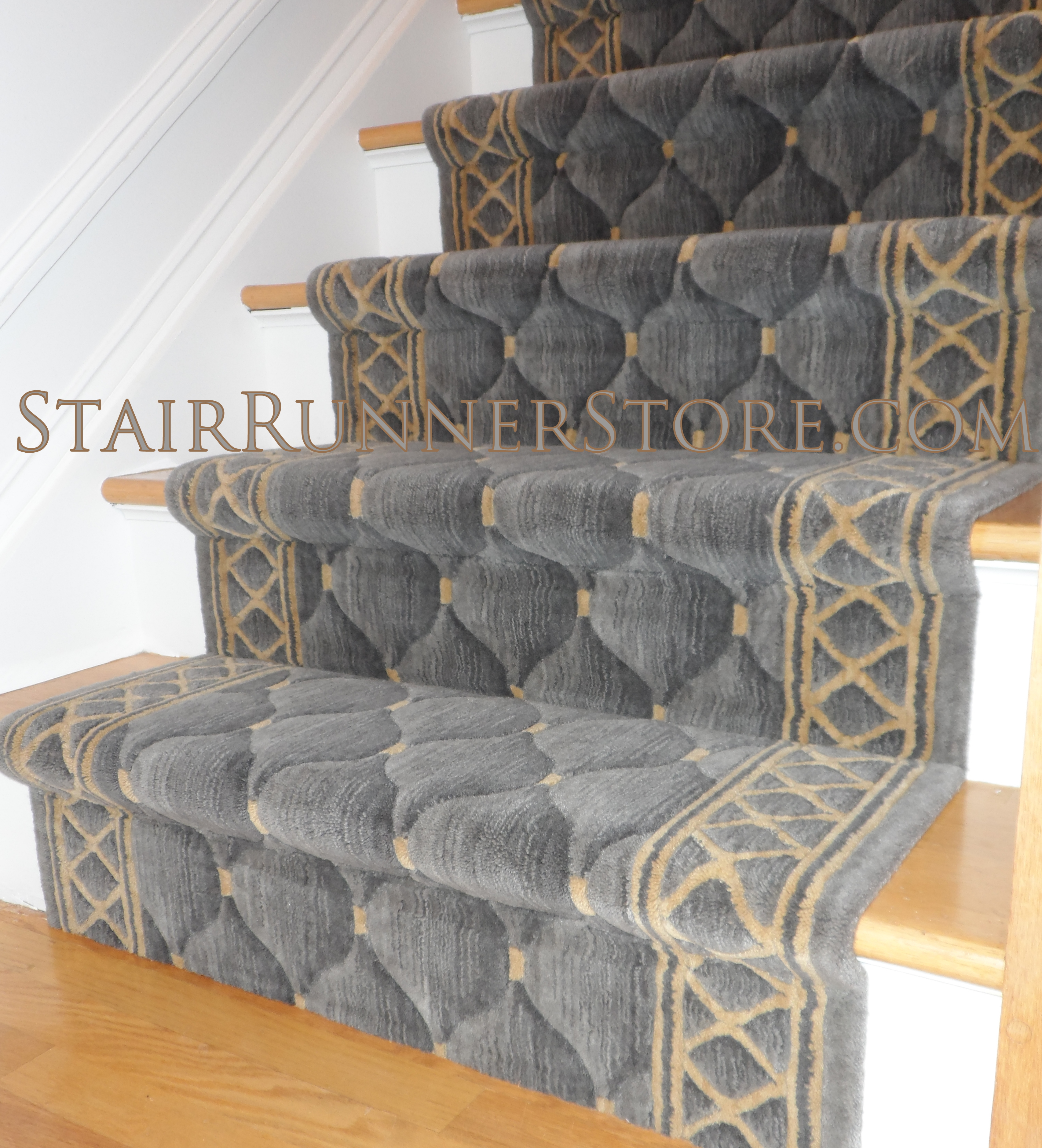 Beau Contemporary Stair Runner Installation 3174
