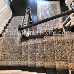 57011 grey cream custom landing and area rug