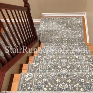 Glamour Kashan Smoke Stair Runner Installation