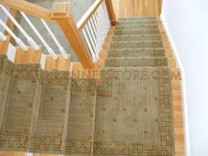 Cosmopolitan Sage - Custom Stair Runner Landing