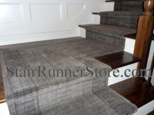 Grand Textures Steel Stair Runner Installation