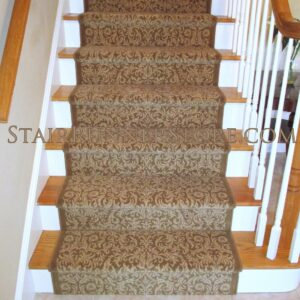 Damask Stair Runner Installation