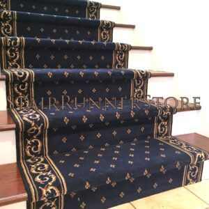 Classic 42500 Blue Stair Runner Installation