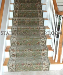Persian Jewel stair runner installation