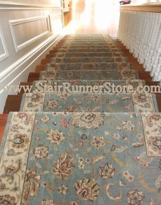 Persian Jewel stair-runner installation