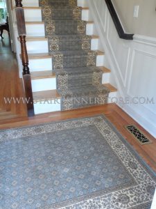 Genoa stair-runner-with-coordinate-rug