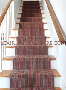 stripe stair runner installation